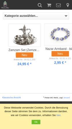 Vorschau der mobilen Webseite www.orient-shop.de, Orient Life GbR