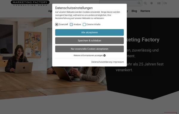 Vorschau von www.marketing-factory.de, Marketing Factory Consulting GmbH