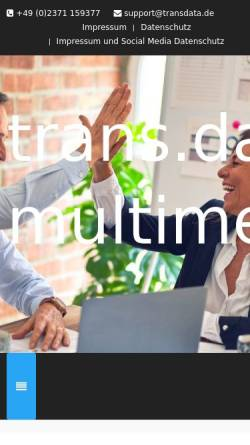 Vorschau der mobilen Webseite www.transdata.de, Trans.Data