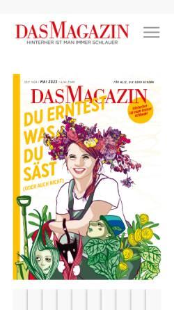 Vorschau der mobilen Webseite www.dasmagazin.de, Dasmagazin.de
