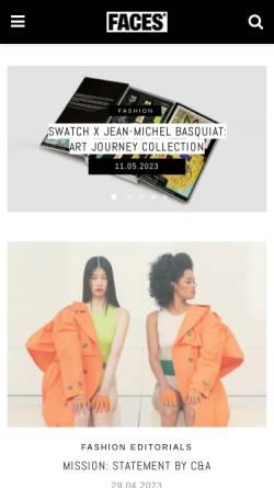 Vorschau der mobilen Webseite www.faces.ch, Faces.ch