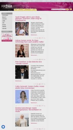 Vorschau der mobilen Webseite www.forher.de, Forher.de