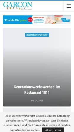 Vorschau der mobilen Webseite garcon24.de, Garcon