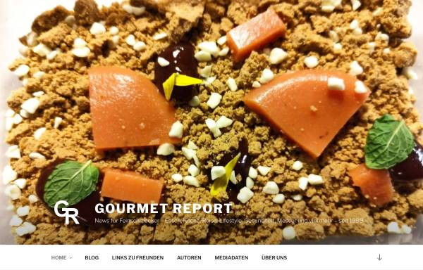 Vorschau von www.gourmet-report.de, Gourmet-report.de