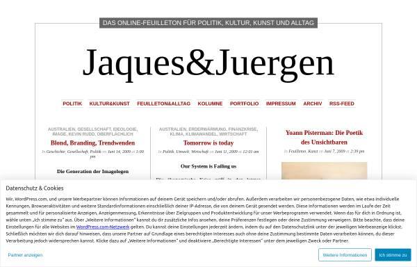 Vorschau von jaquesjuergen.wordpress.com, Jaques&Juergen