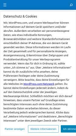 Vorschau der mobilen Webseite jaquesjuergen.wordpress.com, Jaques&Juergen