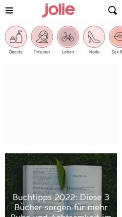 Vorschau der mobilen Webseite www.jolie.de, Jolie.de