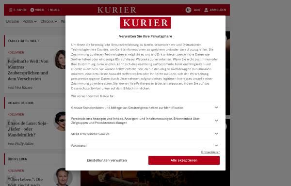 Vorschau von www.kurier.at, kurier.at - Freizeit