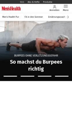 Vorschau der mobilen Webseite www.menshealth.de, Menshealth.de