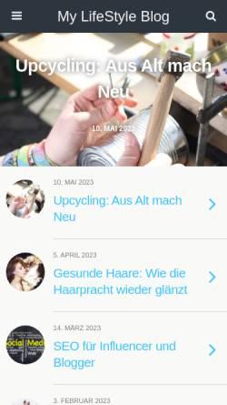 Vorschau der mobilen Webseite www.mylifestyleblog.de, Mylifestyleblog.de