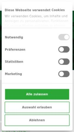 Vorschau der mobilen Webseite www.parkavenue.de, Parkavenue.de