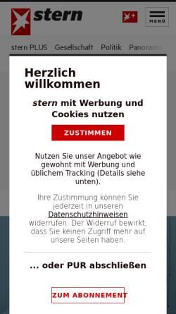 Vorschau der mobilen Webseite www.stern.de, Stern.de
