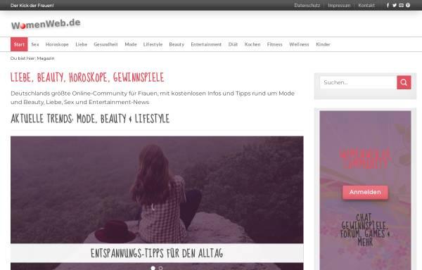 Vorschau von www.womenweb.de, WomenWeb.de