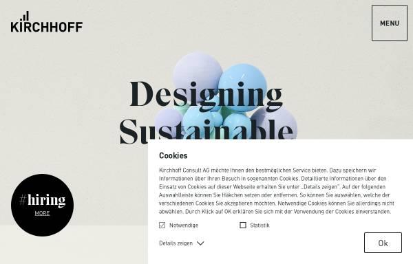 Vorschau von www.kirchhoff.de, Kirchhoff Consult AG