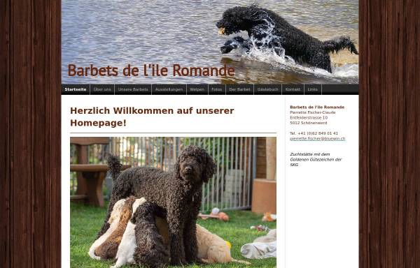 Vorschau von www.barbet-ile-romande.ch, Barbets de lIle Romande
