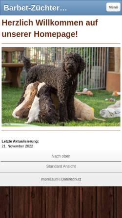 Vorschau der mobilen Webseite www.barbet-ile-romande.ch, Barbets de lIle Romande