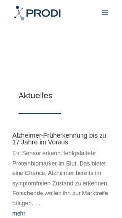 Vorschau der mobilen Webseite www.bph.ruhr-uni-bochum.de, Projekt Galileo