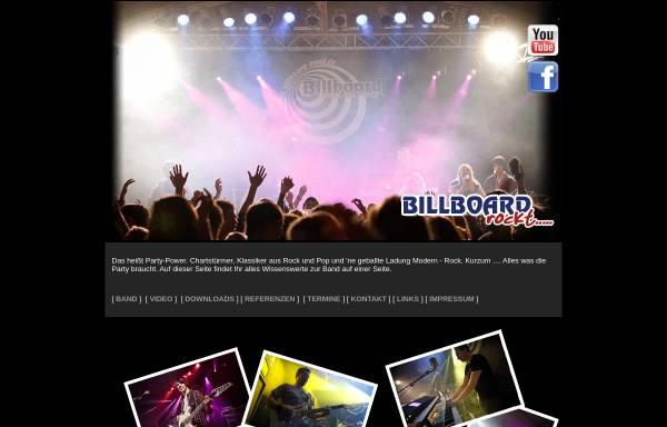 Vorschau von www.billboard-band.de, Billboard