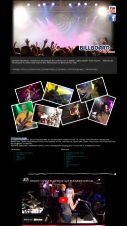 Vorschau der mobilen Webseite www.billboard-band.de, Billboard