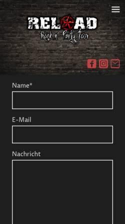 Vorschau der mobilen Webseite www.reload-band.de, Reload