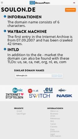 Vorschau der mobilen Webseite www.soulon.de, Soul:on