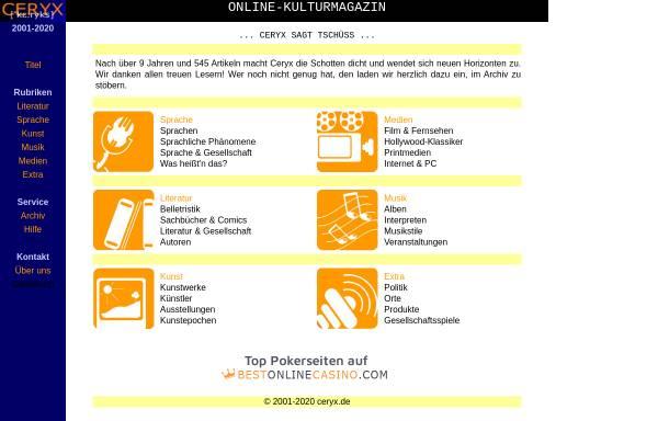 Vorschau von www.ceryx.de, Biographischer Abriß
