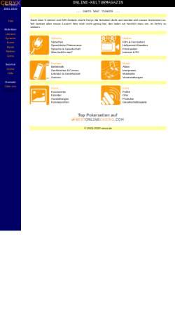 Vorschau der mobilen Webseite www.ceryx.de, Biographischer Abriß