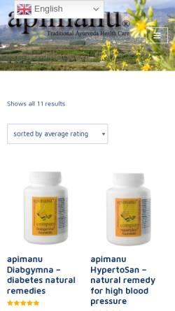 Vorschau der mobilen Webseite www.apimanu.com, Apimanu Diät