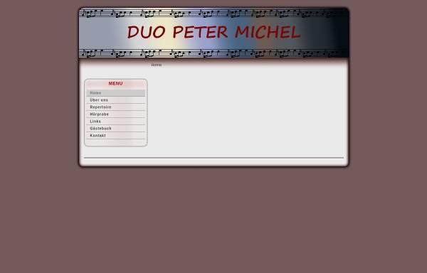 Vorschau von www.duo-peter-michel.ch, Duo Peter Michel