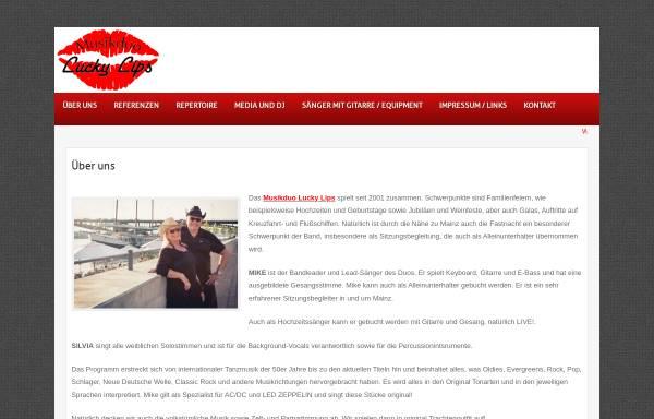 Vorschau von www.musikduo-luckylips.de, Lucky Lips
