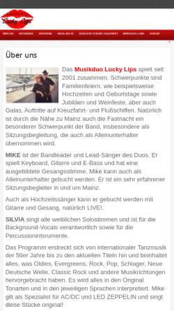 Vorschau der mobilen Webseite www.musikduo-luckylips.de, Lucky Lips