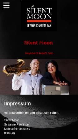 Vorschau der mobilen Webseite www.silentmoon.ch, Silent Moon