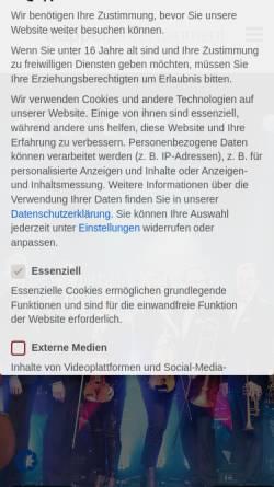 Vorschau der mobilen Webseite www.capital-dance.com, The Capital Dance Orchestra