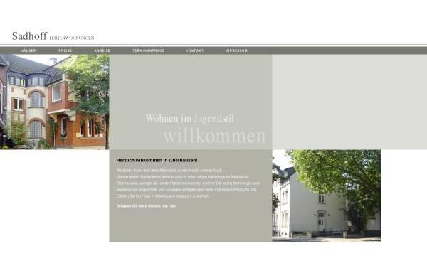 Vorschau von ferienwohnung-sadhoff.de, Ferienwohnungen Brigitte Sadhoff