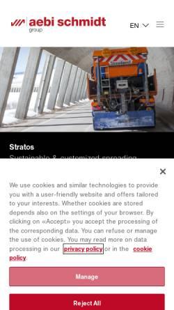 Vorschau der mobilen Webseite www.aebi.com, Aebi & Co. AG