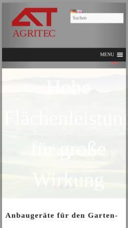 Vorschau der mobilen Webseite www.agritec.de, WAM Gmbh Agritec