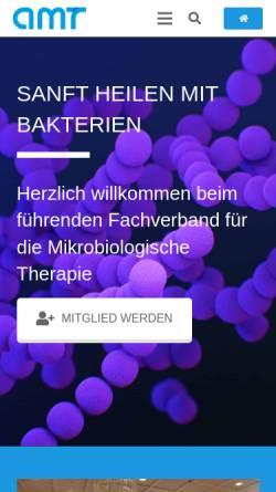 Vorschau der mobilen Webseite amt-herborn.de, Arbeitskreis für Mikrobiologische Therapie e.V. (AMT)