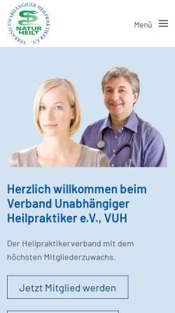 Vorschau der mobilen Webseite www.heilpraktikerverband.de, Berufs- und Fachverband Deutscher Heilpraktiker e.V. (BFDH)