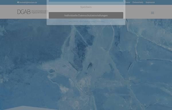 Vorschau von biostase.de, Deutsche Gesellschaft für Angewandte Biostase