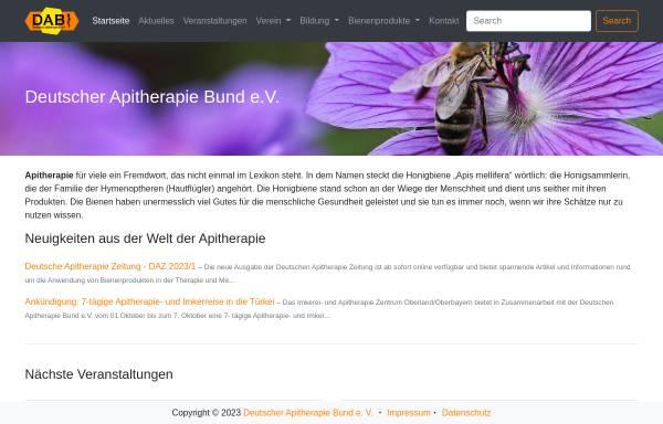 Vorschau von www.apitherapie.de, Deutscher Apitherapie Bund e.V.