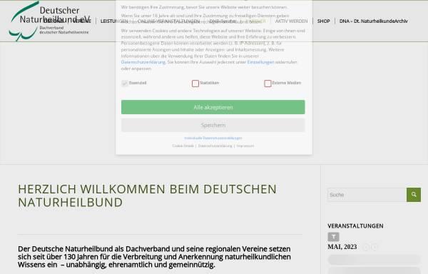 Vorschau von www.naturheilbund.de, Deutscher Naturheilbund e.V.