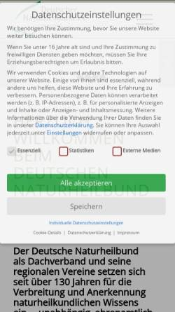 Vorschau der mobilen Webseite www.naturheilbund.de, Deutscher Naturheilbund e.V.