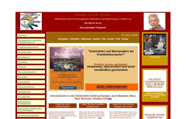 Vorschau von www.erdstrahlen-elektrosmog.de, Forschungskreis Erdstrahlen und Elektrosmog e.V.