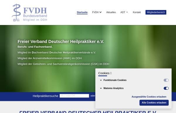 Vorschau von www.fvdh.de, Freier Verband Deutscher Heilpraktiker e.V. (FVDH)