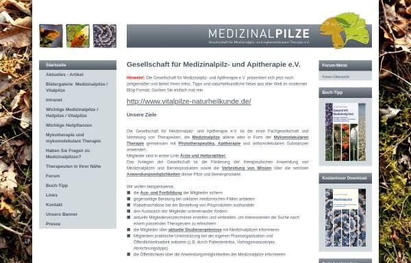 Vorschau von www.medizinalpilze.de, Gesellschaft für Medizinalpilz und Mykomolekulare Therapie e.V.