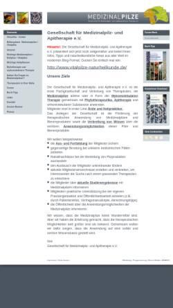 Vorschau der mobilen Webseite www.medizinalpilze.de, Gesellschaft für Medizinalpilz und Mykomolekulare Therapie e.V.
