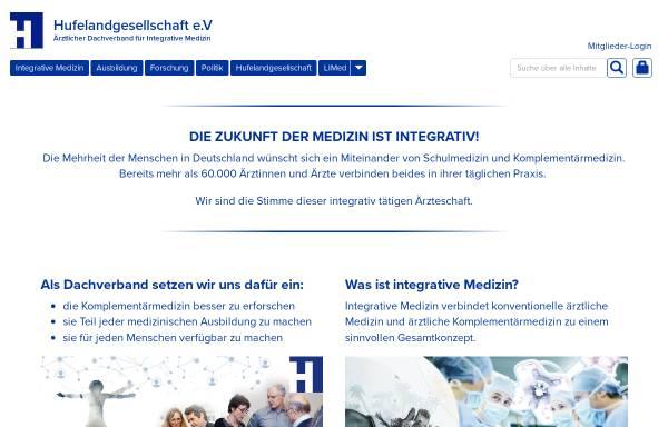 Vorschau von www.hufelandgesellschaft.de, Hufelandgesellschaft e.V.