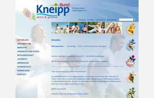 Vorschau von www.kneipp-verein-fallersleben.de, Kneipp Verein Fallersleben e.V.