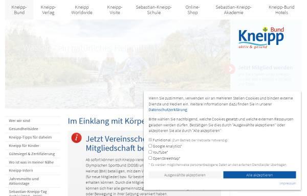 Vorschau von www.kneippbund.de, Kneipp-Bund Deutschland e.V.
