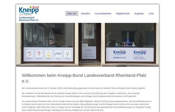 Vorschau von www.kneippbund-rheinland-pfalz.de, Kneippbund Landesverband Rheinland-Pfalz e.V.